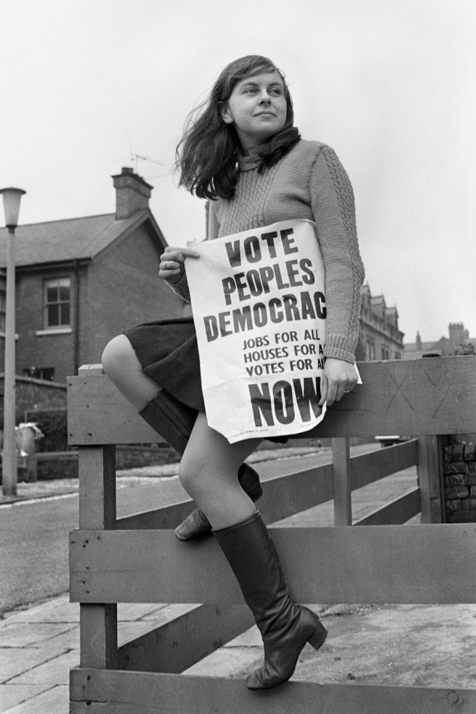 APRIL 17th: On this day in 1969, a 21-year-old woman, Bernadette Devlin, became Britain's youngest ever female MP and the third youngest MP ever. Bernadette Devlin, a 22 year old psychology student and Poeple's Democracy candidate for south Derry in the upcoming Northern Ireland Elections, in Belfast.