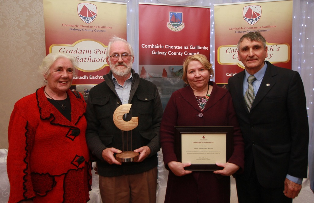 at the Galway County Council Cathaoirleach's Community Awards 2015 in the Claregalway Hotel on Thursday night. Photo:-Mike Shaughnessy / No Fee . Issued on behalf of Galway County Council