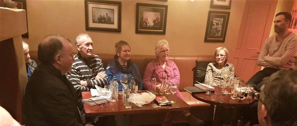 Joe Steve Ó Neachtain ag Club Leabhar Chois Fharraige