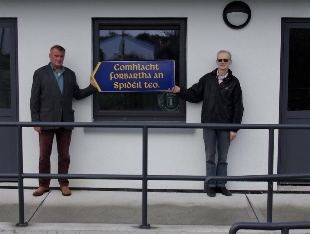 Steve agus Aodhán ag an Oifig Nua 2020